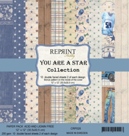 CRP028 Reprint You are a Star Collection 12x12 Inch Paper Pack