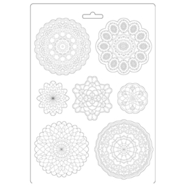 K3PTA494 Stamperia Soft Mould A4 Passion Round Lace