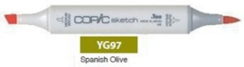 YG97 Copic Sketch Marker Spanish Olive