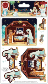 CCDPAK005 Craft Consortium Nativity 3D Decoupage