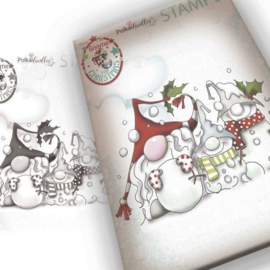 PD7945 Polkadoodles Snow Gnomes Clear Stamp