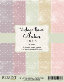 CRP006 Reprint 12x12 Inch Collection Pack Dots Basic