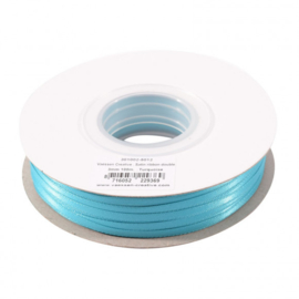 301002-5012 Vaessen Creative • Satijnlint dubbel 3 mm 100m Turquoise