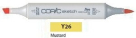 Y26 Copic Sketch Marker Mustard