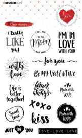 STAMPFWL509 Studio Light - Filled With Love - Clearstamp