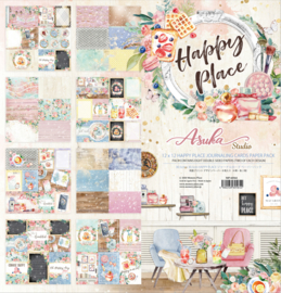 MP-60564 Memory Place Happy Place 12x12 Inch Journaling Cards Paper Pack