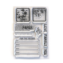 CS214 ECD Clearstamps - Paper Love