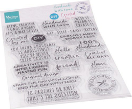 CS1072 Clear Stamp Crafting sentiments