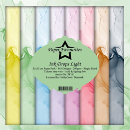 PF161 Paper Favourites 6x6 Inch Paper Pack Ink Drops Light