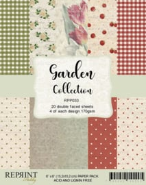 RPP033 Reprint  Collection 6x6 Inch Paper Pack Garden