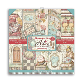 SBBL93 Stamperia Alice Through the Looking Glass 12x12 Inch Paper Pack