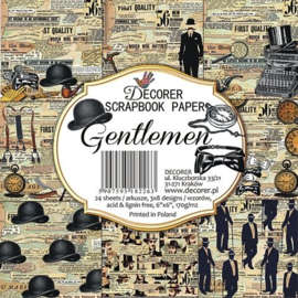 DECOR-C23-266 Decorer Gentlemen 6x6 Inch Paper Pack