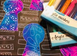 AMSL02 Studio Light Box 10 acrylic markers Soft Colors nr 02
