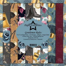 PF158 Paper Favourites 6x6 Inch Paper Pack Gentlemen Rules