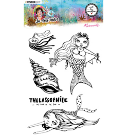 ABM-SFT-STAMP14 Clear Stamp Mermaids So-Fish-Ticated