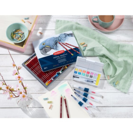 DIP2305866 Derwent Line and Wash Paint Pan Set