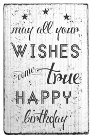 V01040 Colop May All Your Wishes Come True Vintage Rubber Stamps