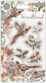 CCSTMP054 Craft Consortium Woodland Birds Stamps