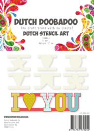 470.990.060 Dutch Stencil Art Shapes (12 cm hoog)