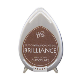 BD-000-076 Dew Drop Brillance Ink Pad Pearlescent Chocolate
