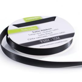 301002-2004 Vaessen Creative satijnlint dubbel 9mm - 10m zwart