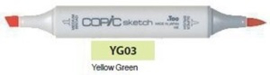 YG03 Copic Sketch Marker Yellow Green