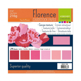 2923-104 Florence • Cardstock multipack 15,2x15,2cm Roze