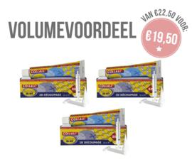 VOLUME 3 x Collal 3D kit incl. sleutel & spuit