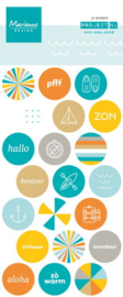 PL4505 Project NL - stickers - zon, zee, strand
