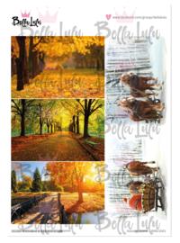 3000/1002 Bella Lulu knipvel Autumn Scene