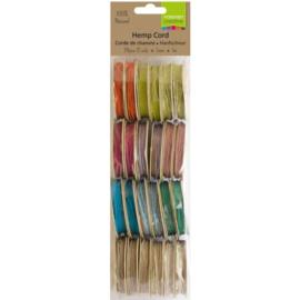3908-090 Vaessen Creative • Hemp cord ass. 12x2 1m light colours