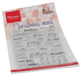 CS1070 Clear Stamp Christmas mail