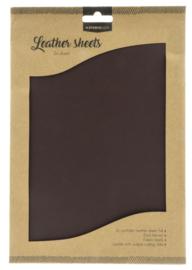 FLSSL03 Fake Leather Sheets - Dark Brown