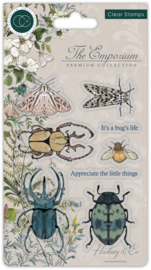 CCSTMP019 Craft Consortium The Emporium Beetles Clear Stamps