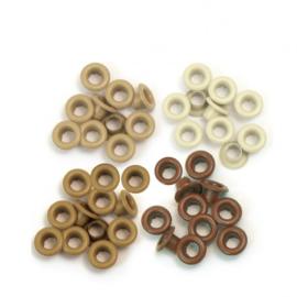 41581-7 We R Memory Keepers standard eyelets x60 aluminium brown