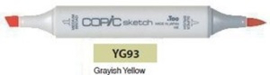 YG93 Copic Sketch Marker Grayish Yellow
