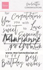 CS1052 Clear Stamp Handwritten - Congratulations