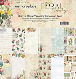 MP-60375 Memory Place Floral Tapestry 12x12 Inch Paper Pack