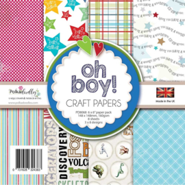 PD8068 Polkadoodles Oh Boy! 6x6 Inch Paper Pack