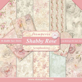 SBBL12 Stamperia Shabby Rose 12x12 Inch Paper Pack