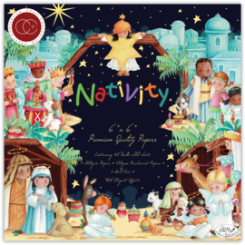 CCPPAD021B Craft Consortium Nativity 6x6 Inch Paper Pad