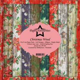 PF180 Paper Favourites 6x6 Inch Paper Pack Christmas Wood