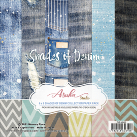 MP-60610 Memory Place 6x6 Inch Paper Pack Shades of Denim