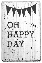 V01012 Colop Oh Happy Day Vintage Rubber Stamps