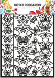 472.950.010 Dutch Paper Art Vlinders zwart
