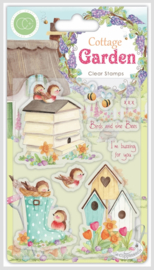 CCSTMP031 Craft Consortium Cottage Garden Birds and the Bees Stamps