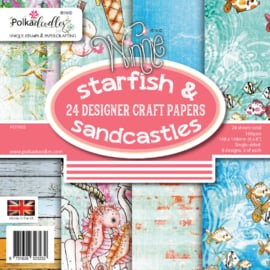 PD7953 Polkadoodles Starfish & Sandcastles 6x6 Inch Paper Pack