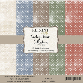 CRP009 Reprint 12x12 Inch Collection Pack  Basic Stars