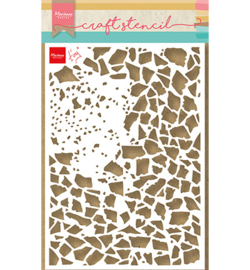 PS8107 Craft Stencil - Tiny's Shattered Glass