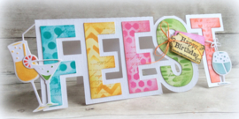 470.713.639 Dutch Doobadoo Card Art Text Feest